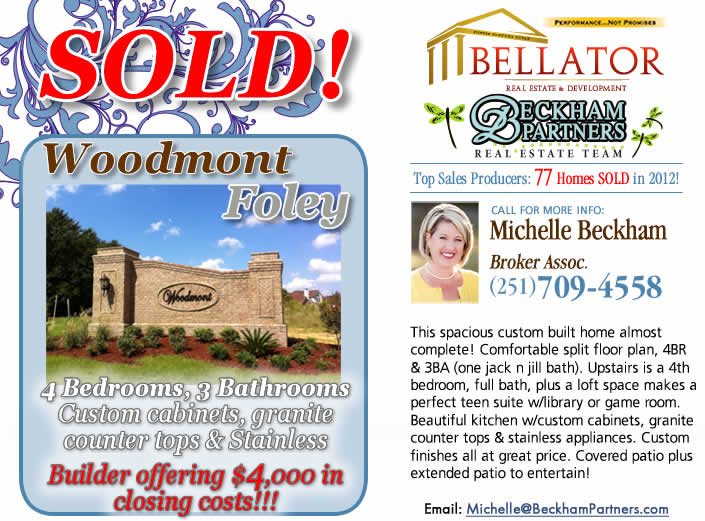 Woodmont Spanish Fort - listing by Foley Real Estate team, Beckham Partners